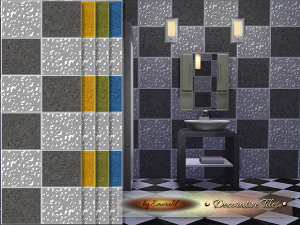 The Sims Resource: Decorative Tiles by Emerald