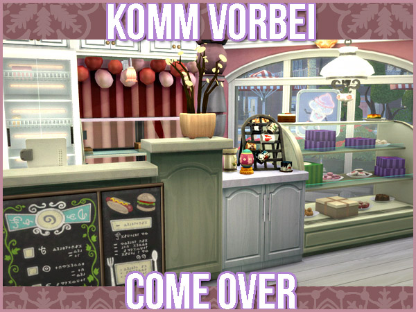 Akisima Sims Blog The Cupcake Shop Sims 4 Downloads