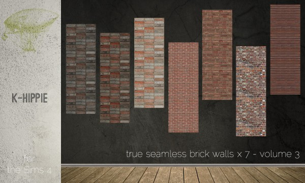 Mod The Sims 7 Brick Walls True Seamless Volume 3 By