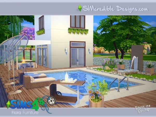 The sims resource flora outdoor set by simcredible design for Garden design sims 4