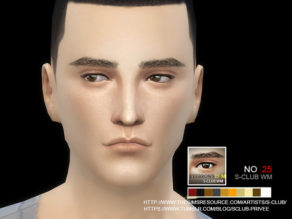 The Sims Resource: Eyebrows 25 M by S Club