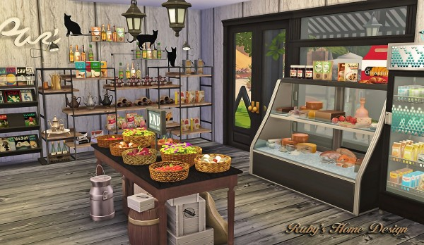 Ruby`s Home Design: Deli & Grocery Store • Sims 4 Downloads