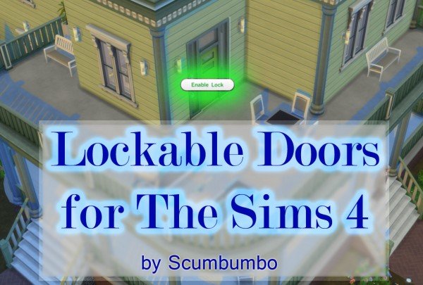 Mod The Sims Door Locks For Ts4 By Scumbumbo Sims 4