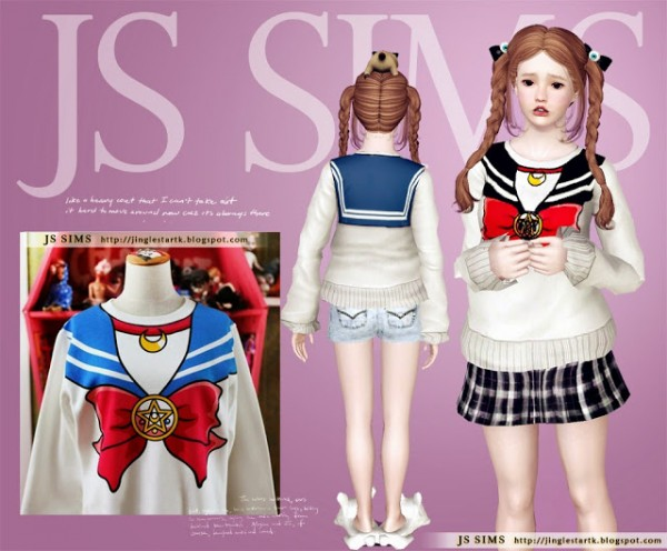 Js Sims 4 Sailor Moon Sweater Sims 4 Downloads