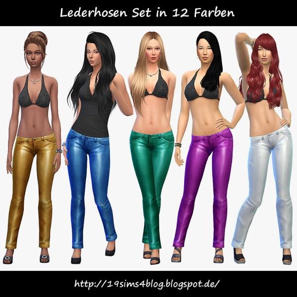 19 Sims 4 Blog: Leather pants set