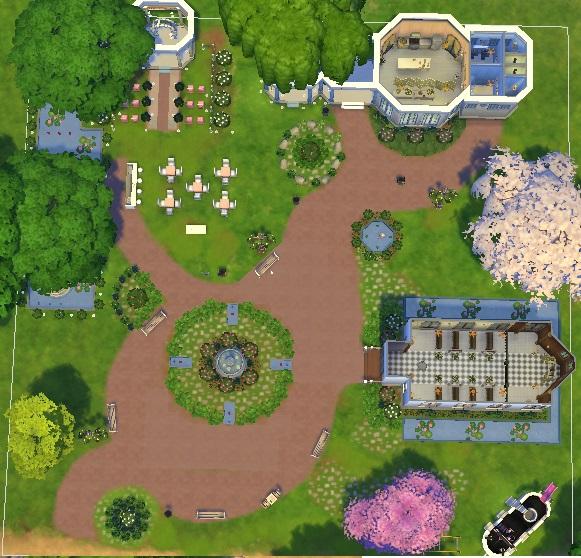 Mod The Sims Magnolia Park Rebuild For Weddings By Bunny
