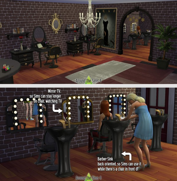 Around The Sims 4 Beauty Salon 2 Sims 4 Downloads