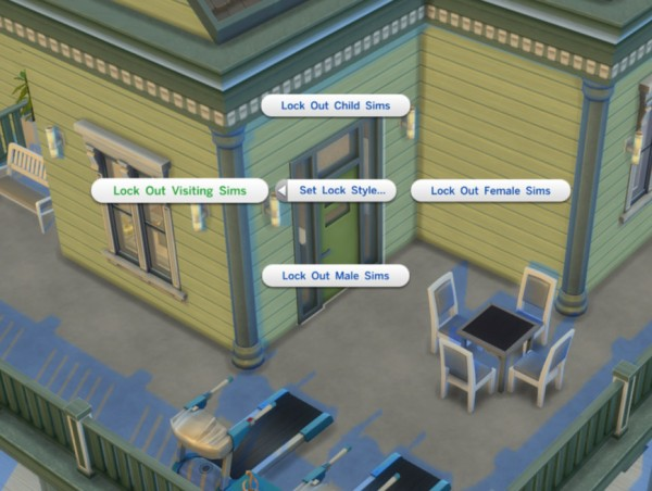 Mod The Sims: Door Locks for TS4 by scumbumbo