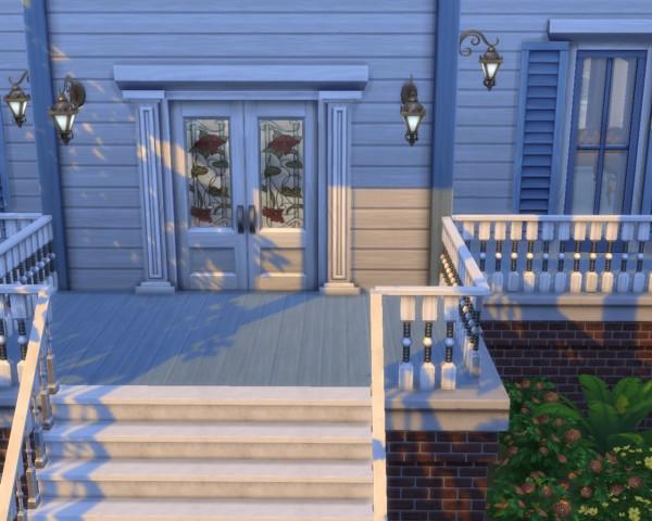 Mod The Sims Stained Glass Double Door Set By Mojo007