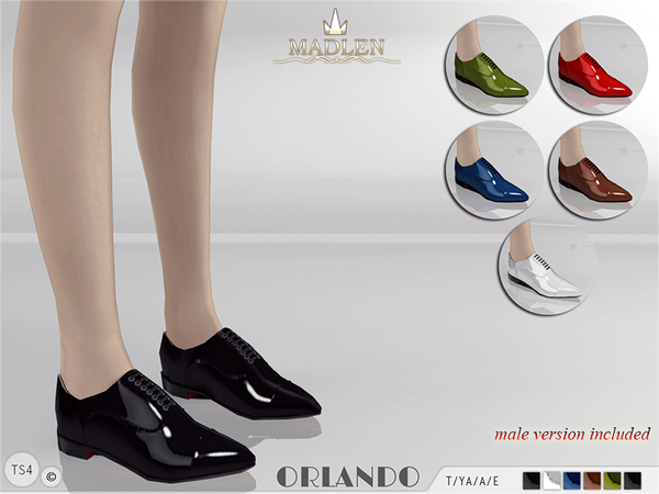 The Sims Resource: Madlen Orlando Shoes by MJ95