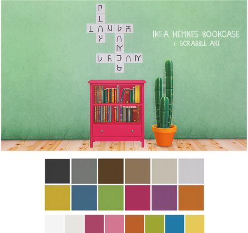 LinaCherie: IKEA Hemnes bookcase & Scrabble art
