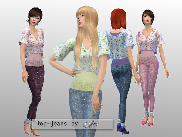The Sims Resource: Mary set by Altea127