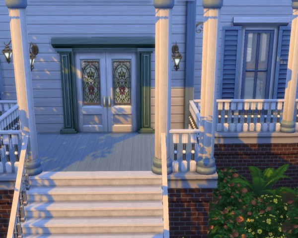 Mod The Sims: Stained Glass Double Door Set by mojo007