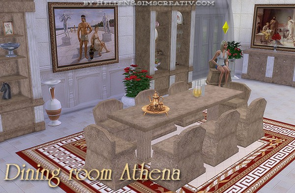 Sims Creativ: Dining room Athena by HelleN
