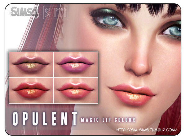The Sims Resource: Opulent    Magic Lip Colour by Screaming Mustard