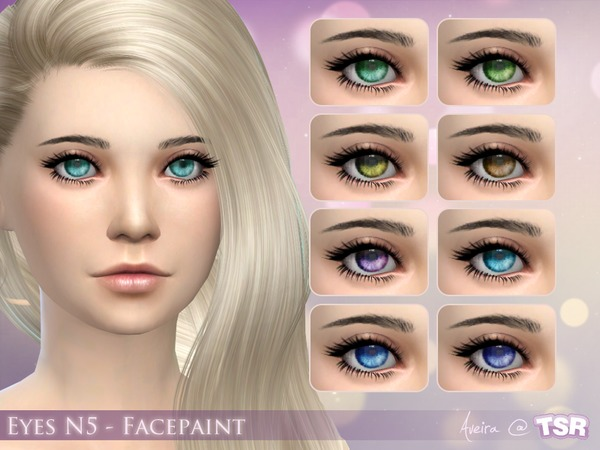 The Sims Resource: Eyes N5   Facepaint by Aveira