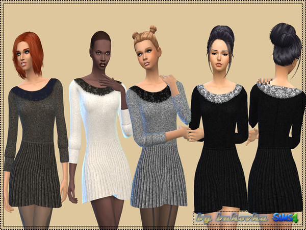 The Sims Resource: Dress Pleating by Bukovka