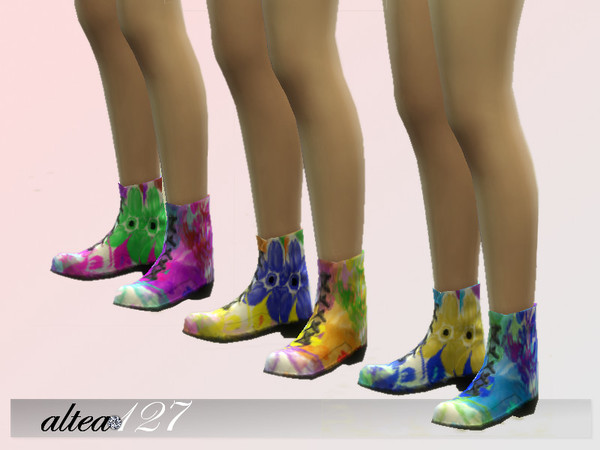 The Sims Resource: Flowers Boots by Altea127