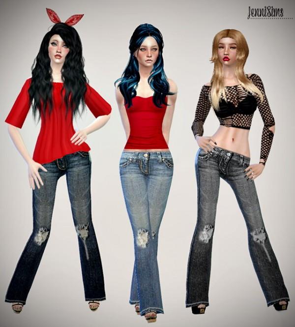 Jenni Sims: Sets of Jeans & Accessory Bandana Hair