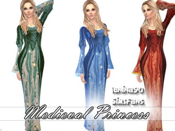Sims Fans Medieval Princess Dress By Lenina90 Sims 4