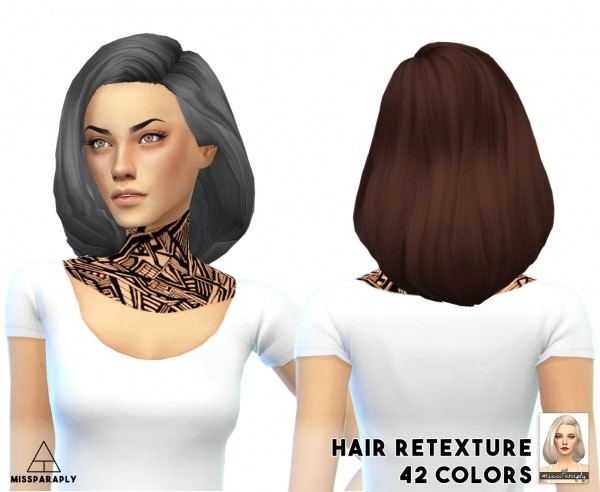Miss Paraply: Hair retexture / Tamo Puffy Shoulder Bob / 42 colors