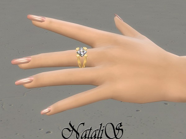 The Sims Resource: Gentle crystals stud earrings by NataliS
