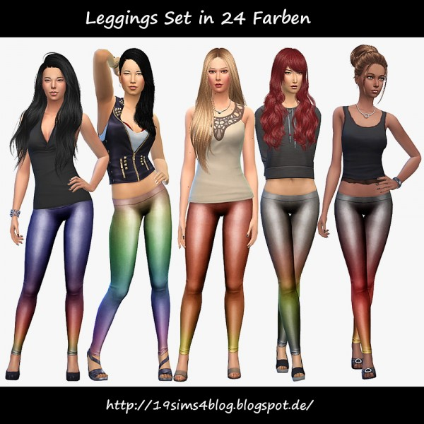 19 Sims 4 Blog: Leggings Set