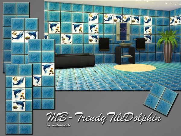 The Sims Resource: MB TrendyTile Dolphin by matomibotaki