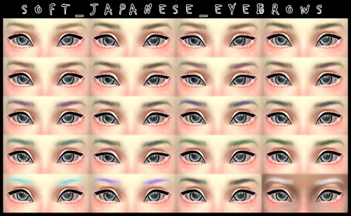 Decay Clown Sims: Soft Japanese Eyebrows