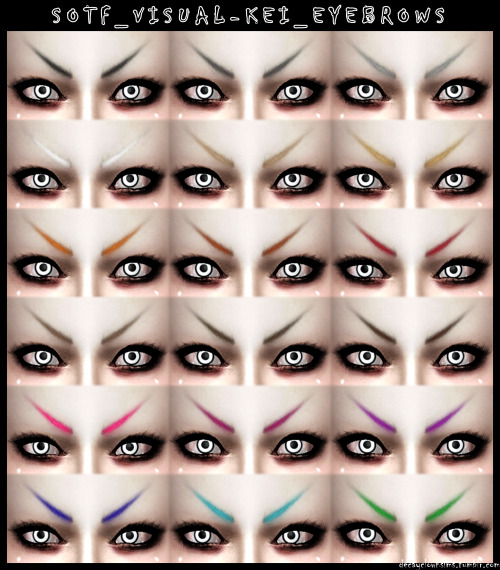 Decay Clown Sims: Soft Visual Kei Eyebrows