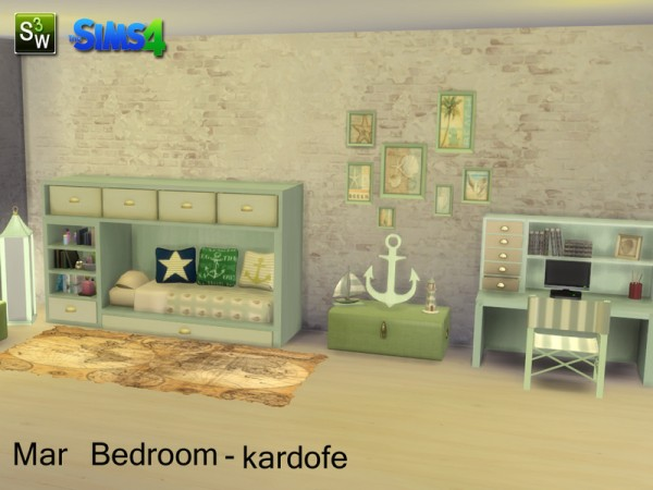 The Sims Resource: Mar Bedroom by Kardofe