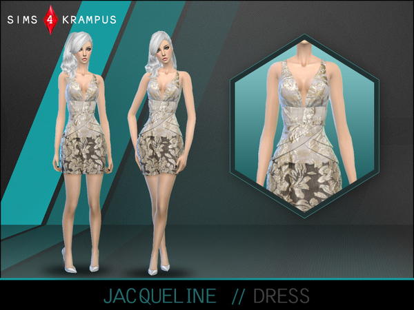 The Sims Resource: Jacqueline Dress by SIms4Krampus