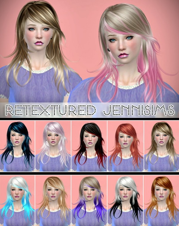 Jenni Sims: Newsea Flying dance hairstyle retextured