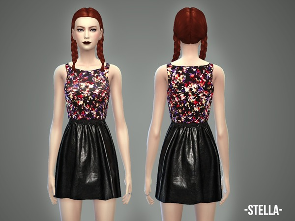 The Sims Resource: Stella   top & skirt by April