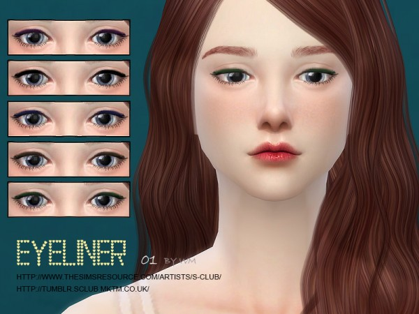 The Sims Resource: Eyeliner 01 by S Club