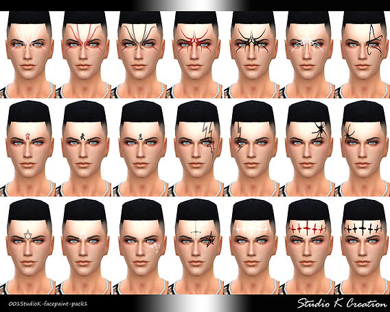 Studio K Creation Face Painting Pack 1 Sims 4 Downloads
