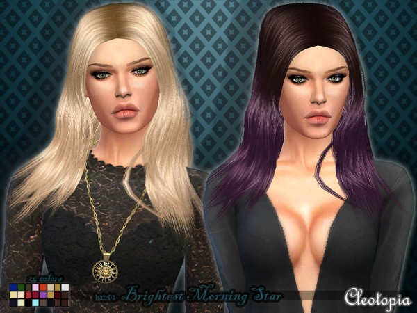 The Sims Resource: Hair01   Brightest Morning Star by Cleotopia