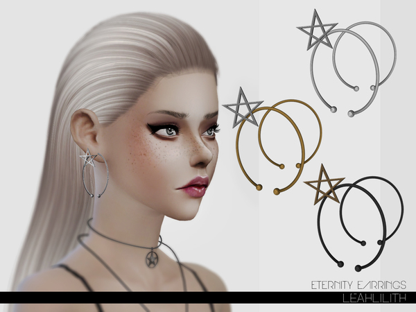The Sims Resource: Eternity Earrings by Leah Lillith