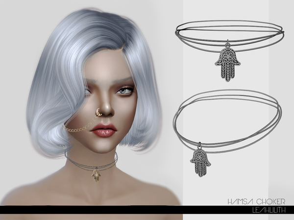 The Sims Resource: Hamsa Choker by LeahLillith