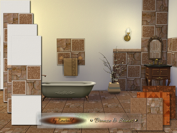 The Sims Resource: Bronze & Stones by Emerald