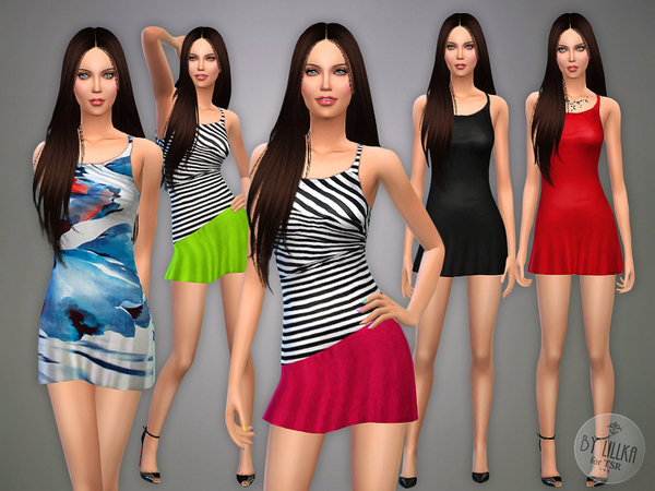 The Sims Resource: Leisure Dress P02 by lillka