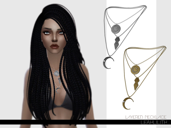The Sims Resource: Layered Necklace by LeahLillith