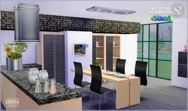 Simcredible Designs Liscia Kitchen Sims 4 Downloads