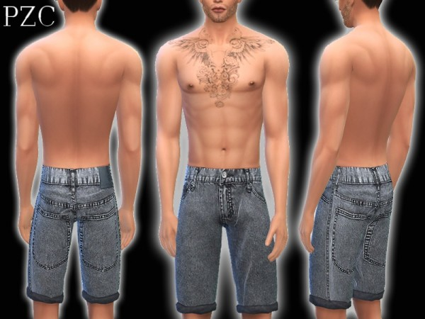 The Sims Resource: Jeans Shorts No.4 by Pinkzombiecupcake