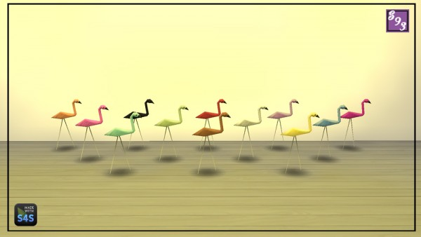 The Stories Sims Tell: Fun flamingo sculpture converted