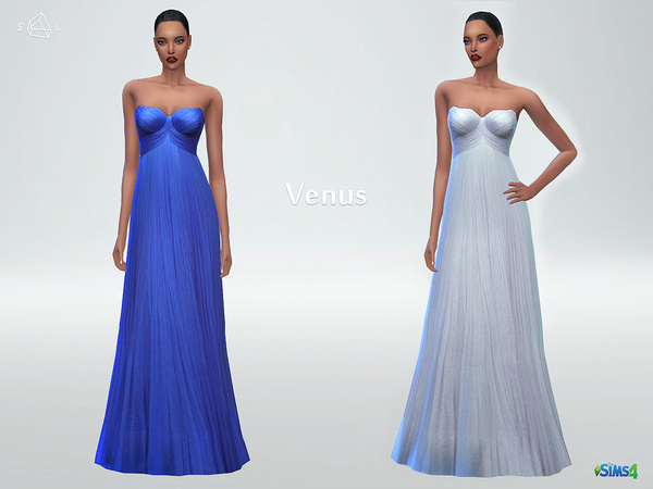 The Sims Resource: Silk tulle gown VENUS by Starlord
