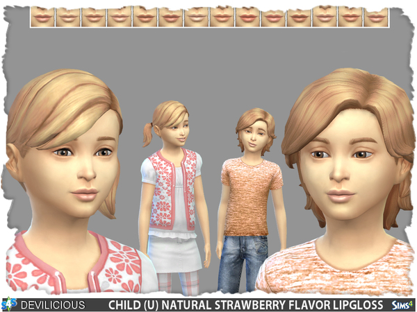 The Sims Resource: Fruit Flavored Lipgloss Set by Devilicious