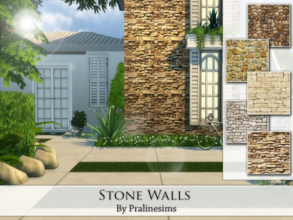The Sims Resource: Stone Walls by Praline Sims