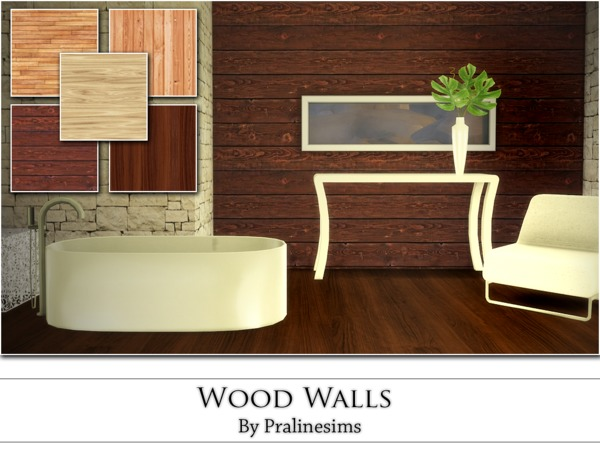 The Sims Resource: Wood Walls by Praline Sims