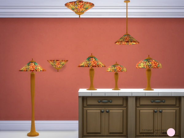 The Sims Resource: Tiffany Lamp Set by DOT